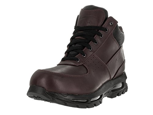 NIKE Air Max Goadome Men's Lifestyle Leather Boots Deep Burgundy/Black, 10