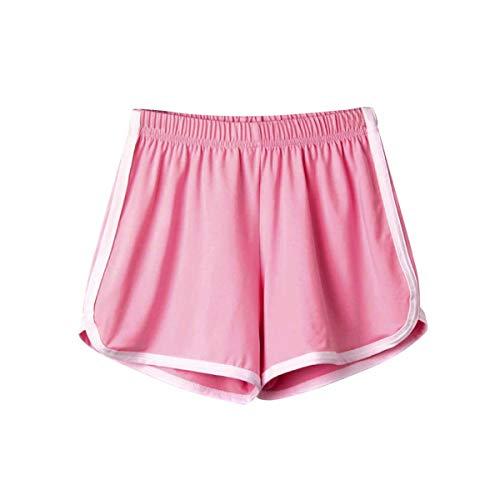 Fashion Shorts Women Casual Fashion Holiday Lady Summer Sport Shorts Beach Hot Short Pants Pantalones Cortos Mujer #YY Pink XL (Yy Pro)