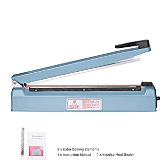Metronic 16inch/400mm Manual Impulse Manual Hand Sealer Heat Sealing  Machine Poly Tubing Plastic Bag