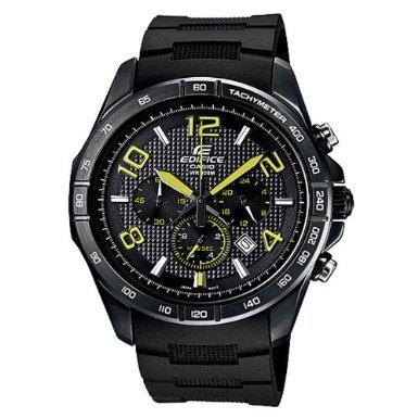 Casio Men's Edifice EFR516PB-1A3V Black Resin Quartz Watch with Black (Casio Edifice Alarm Chronograph Watch)