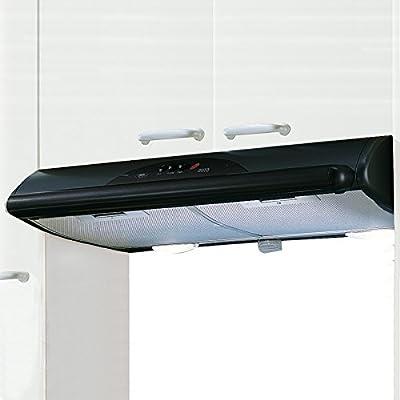 Mepamsa Mito Jet 60 Campana aspirante decorativa de pared, color negro, 40 W, 66 Decibelios, 2 Velocidades: Amazon.es: Bricolaje y herramientas