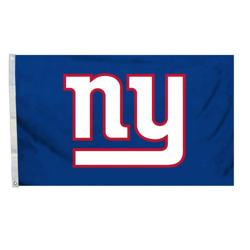 NFL New York Giants Logo Flag with Grommets, 3 x 5-Foot (Ny Giants Logo)