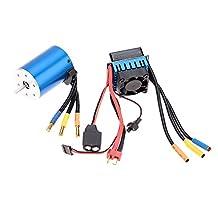 GoolRC 3650 3100KV/4P Sensorless Brushless Motor with 60A Brushless ESC?Electric Speed Controller?for 1/10 RC Car Truck