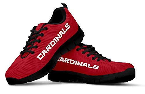 Arizona Cardinals Themed Casual Athletic Running Shoe Mens Womens Sizes Football Apparel Gear and Gifts for Men Women Fan AZ Cardinal Merchandise Womens US9 (EU40)