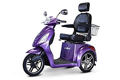 E-Wheels EW-36 3-Wheel 500W High Power Electric Mobility Scooter, Purple