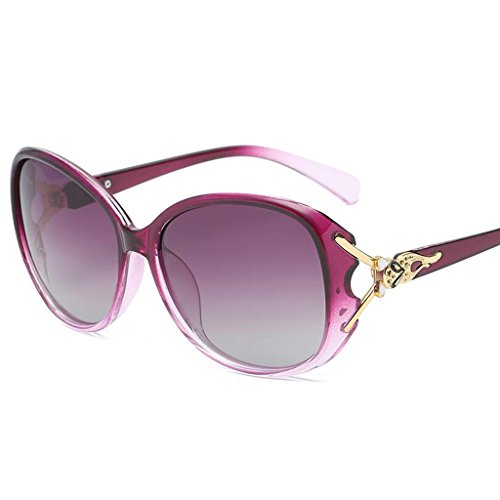 De Cara Redonda Sol Gafas HOME Purple Cara Color Protección QZ Gafas Purple UV Larga xwnzERwXA