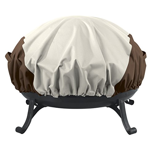 AmazonBasics Round Fire Pit Cover, Small (Outdoor Table With Fire Pit In The Middle)