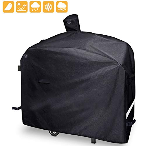 Grisun Grill Cover for Camp Chef Pellet Grills DLX 24″, SmokePro 24″, PG24, PG24LS, PG24S, PG24SE, PG24LTD, SmokePro DLX Woodwind Pellet Grills, Full Length 600D Waterproof Anti-UV Patio BBQ Cover