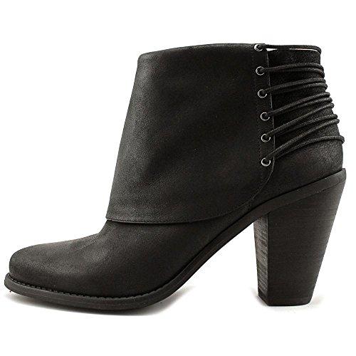 Jessica Simpson Fancy Caysy Kvinnor Rund Tå Läder Bootie Svart