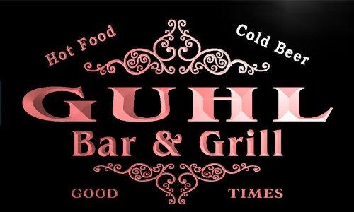 u18061-r GUHL Family Name Gift Bar & Grill Home Beer Neon Light Sign