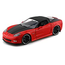 2006 Chevy Corvette Z06 1/24 Red w/ Black Rims by Collectable Diecast