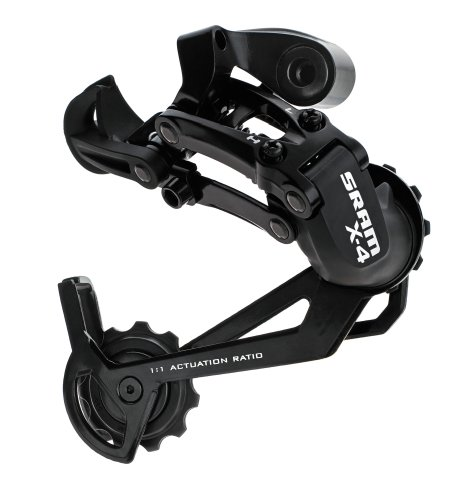 - SRAM X.4 Rear Derailleur (Black, Long Cage)
