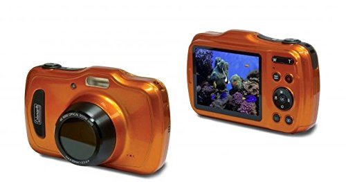 Coleman 20.0 Mega Pixels Waterproof HD Digital Camera with 4x Optical Zoom & 3'' LCD Screen, Orange (C30WPZ-O) by Coleman