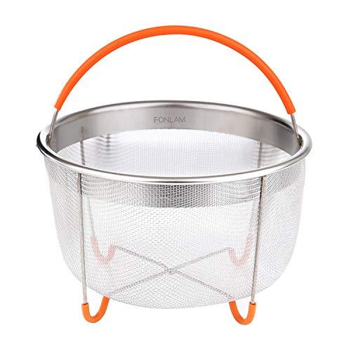 Steamer Basket, Fonlam Instant Pot Accessories Stainless Steel Mesh 6 qt Strainer Basket,Colander to Strain, Rinse, Fry,Egg Basket, Steam or Cook Vegetables & Pasta for Instant Pot 6&8 Quart