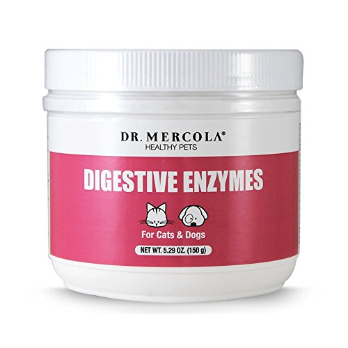Dr. Mercola Pet Digestive Enzymes for Cats and Dogs – 150g of Natural Digestive Enzymes – Support Healthy Pets with this Human Grade Enzyme Supplement – 150 Scoops of the Best Pet Enzyme Powder