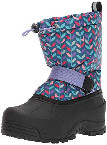 200g Thinsulate Insulation - Northside Girls' Frosty Snow Boot, Navy/Purple, 4 Medium US Little Kid