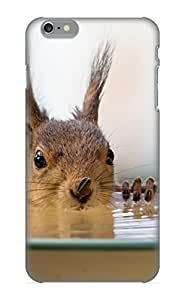 Georgemunoz Brand New Defender Case For Iphone 6 Plus (animal Squirrel Bowl Water Sunflower Seed) / Christmas's Gift