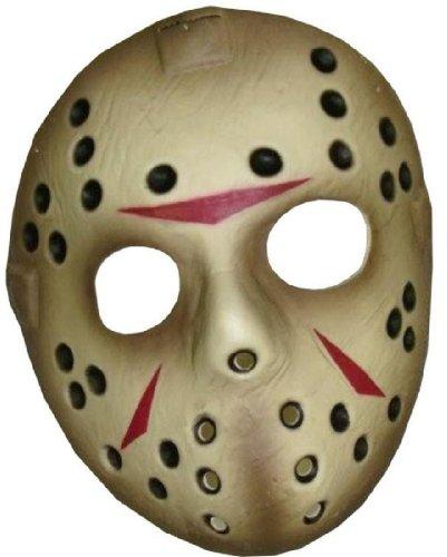 Jason Voorhees Hockey Mask (Friday The 13th Jason Voorhees Deluxe Eva Hockey Mask, Gray, One Size)