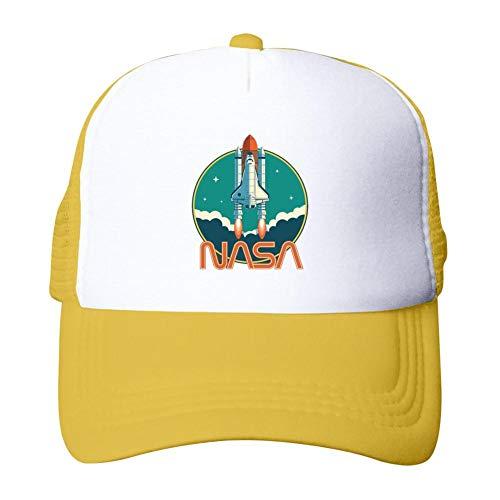 Heiazha Hipster Printed Adult Cap,Nasa Logo Mesh Fitted Hats Snapback Cap for Men Women -