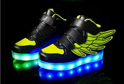 ACME LED Schuhe Sportschuhe Sneaker Turnschuhe mit USB Aufladen Für Kinder Jungen Mädchen - 1199 Dunkelgrün