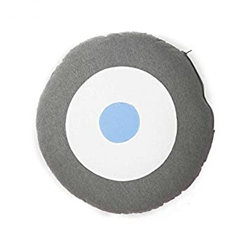 Amazon.com: Vinyl Cushion - Blue / White / Grey Vinyl ...