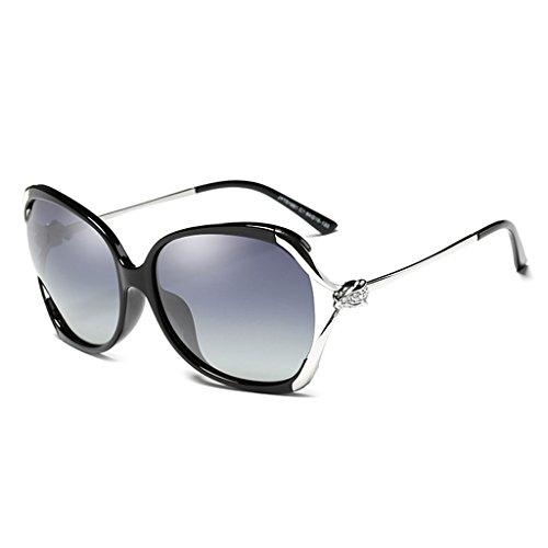 D Moda Gafas Conduciendo Luz A De Redonda Sol Conducción Una Grande Caja Mujer Polarizada Gafas Hueco Cara Diamante Sol De Color GAOYANG ZgRq8n