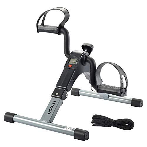 🥇 FITODO Pedales Estaticos Ejercicio de Mini Bicicleta con Monitor LCD para Pierna y el Brazo de Rehabilitación