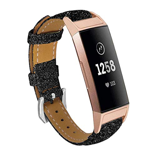 Amazon.com: Band Compatible for Fitbit Charge 3,Women Bling ...