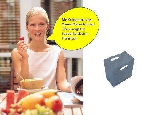 Tischabfalleimer,Tisch Abfalleimer Mülleimer Tütenoptik in Transparent