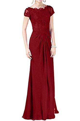 Promkleider Etuikleider Rot Damen Langes Marie La Chiffon Braut Abendkleider Brautmutterkleider Dunkel p04O1xq8Hw