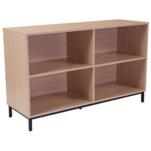 - Flash Furniture Dudley Oak Wood Grain Finish Bookshelf