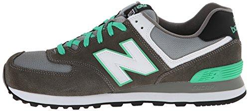 888546362376 - New Balance Men's ML574 Core Plus Classic Running Shoe, Grey/Green/White, 12 D US carousel main 4