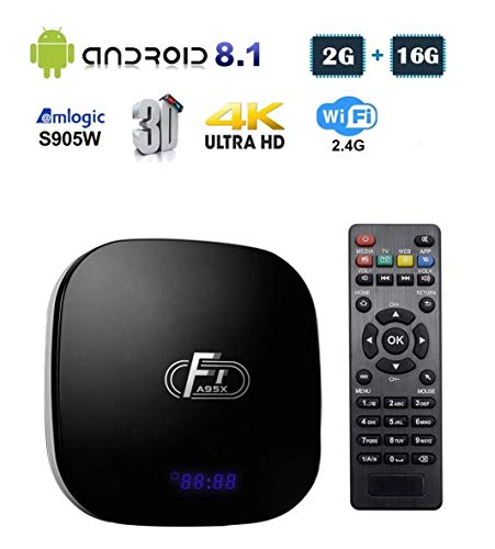 Linkplus A95XF1 Android 8.1 Smart TV Box, Amlogic S905W Quad-core Cortex-A53 2GB RAM/16GB ROM Mali-450 GPU WiFi 2.4GHz…