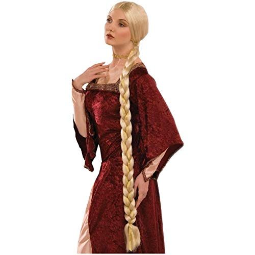 Forum Novelties Women's Adult Extra Long Braids Princess Rapunzel Costume Wig, Blonde, One Size]()