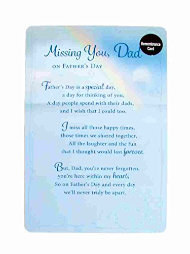 remembrance fathers day card missing you dad amazon co uk health