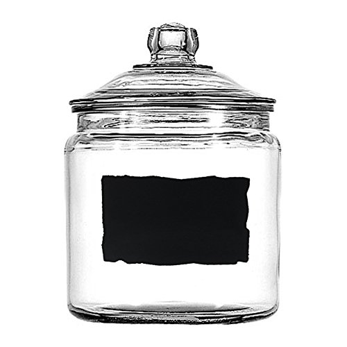 (Anchor Hocking Heritage Hill 1 Gallon Glass Dry Good Storage Jar with Chalkboard Label)