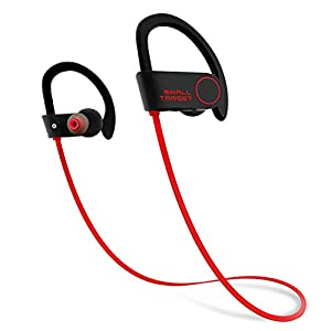 Bluetooth Headphones, Small Target Best Wireless Sport Earphones w/Mic IPX7 Waterproof Stable Fit In Ear Earbuds Noise Isolating Stereo Headset 9-Hour Working Time for Running Workout Gym(Upgraded)
