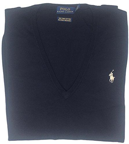 Polo Ralph Lauren Womens Pima Cotton V-Neck Sweater (S, Blue) by Polo Ralph Lauren (Image #1)