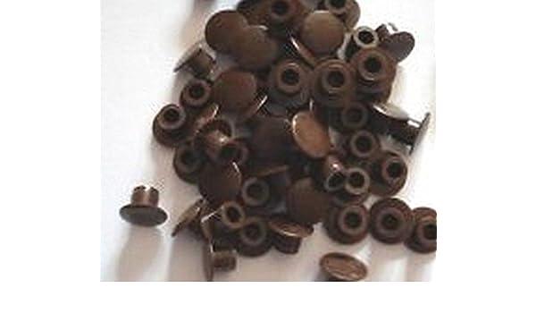 50 unidades marrón oscuro plástico 5 mm tapones embellecedores para agujeros para armario de cocina: Amazon.es: Bricolaje y herramientas