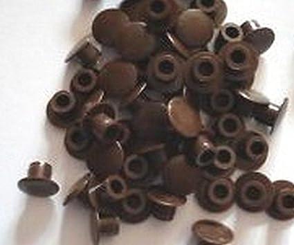 50 unidades marrón oscuro plástico 5 mm tapones embellecedores para agujeros para armario de cocina