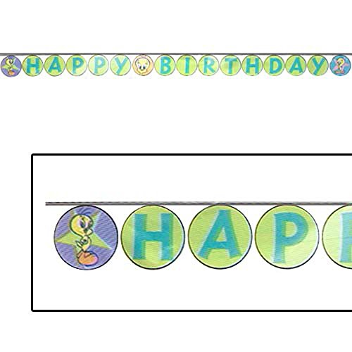 (Looney Tunes 'Tweety Superstar' Happy Birthday Banner (1ct))
