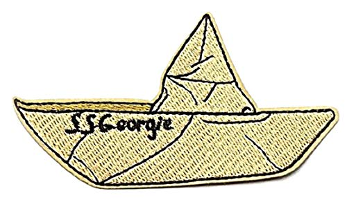 Stephen King's it Ss Georgie Paper Boat Embroidered 4 Inches Wide Iron on Patch (Patch Stephen King)