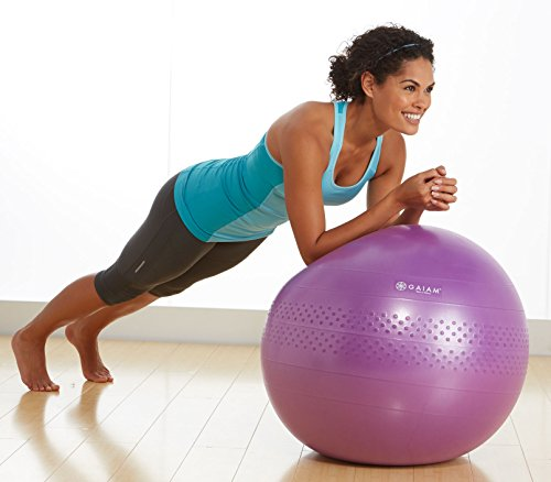 Gaiam Total Body Balance Ball Kit with Pump & DVD