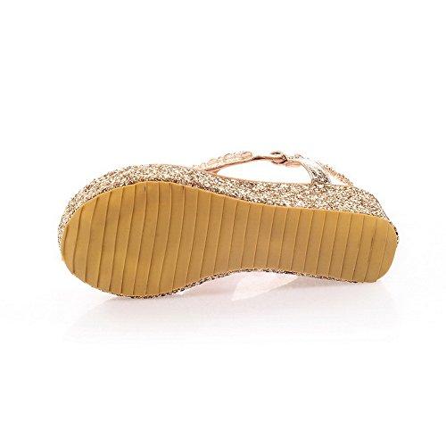 Goldfarben Eu Damen Adee 43 Größe Gold Sandalen g7TPwqz