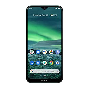 Nokia 2.3 Android 10 Smartphone 2GB RAM, 32GB Storage, Dual Rear Camera, Cyan Green
