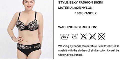 Traje de baño de las señoras Leopardo Bikini impresión traje de baño de gran tamaño de alta cintura Spa traje de baño Bikini Multi - color
