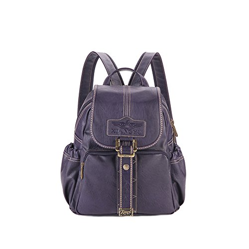 Lycailcy LYC-Lycailcy-A09-20 - Bolso mochila  para mujer Marrón Magnetic Snap Light Brown(9.4 x 4.3 x 11 inches) Small(9.4 x 4.3 x 11 inches) Magnetic Snap Purple(10.6 x 4.7 x 12.6 inches)