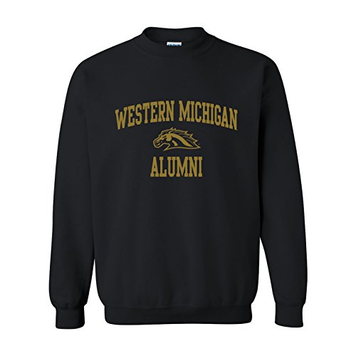 (UGP Campus Apparel Western Michigan Broncos Alumni Arch Crewneck Sweatshirt - X-Large - Black)