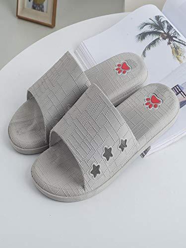 Men Casual Lattice Flat Bath Slippers Comfortable Sandals Indoor /& Outdoor Slipper