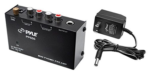 Pyle PP555 Ultra Compact Phono Turntable Pre-Amplifier with